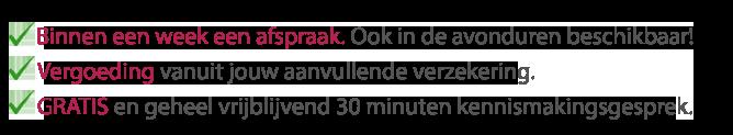 Psycholoog Arnhem Zuid Jamila Ekkel Mindfulness Avond beschikbaar geen wachtlijst snel gratis kennismaking gesprek